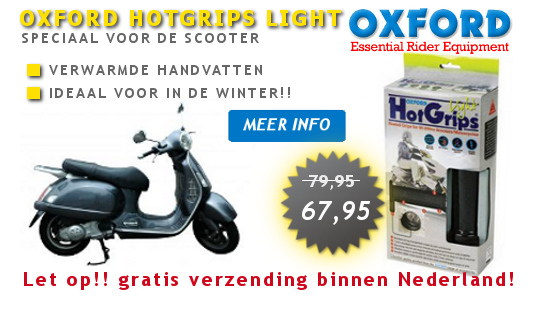 oxford hotgrips light voor scooters