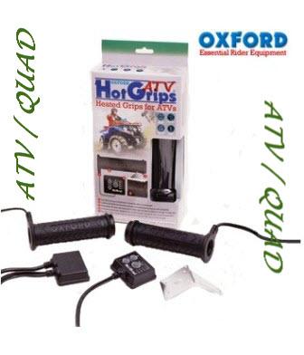 Voorbeeld verwarmde handvatten voor de quad met duimgas